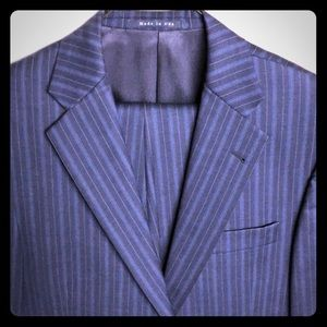 Burberry 2-button pinstriped suit